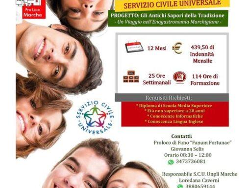 """Servizio Civile Universale alla Proloco di Fano """"Fanum Fortunae"""""""