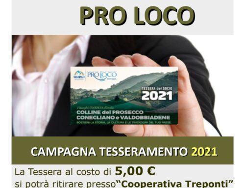 """Via al Tesseramento 2021 della Proloco """"Fanum Fortunae"""""""